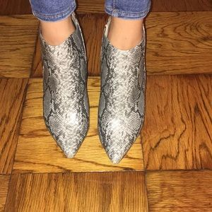 Faux Snake BCBG booties